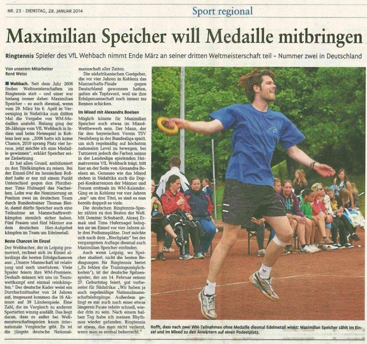 Rhein-Zeitung 2014/01/28