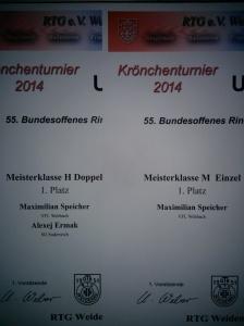 Urkunden Krönchenturnier 2014