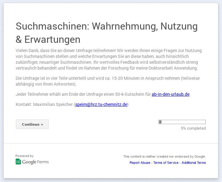 Umfrage: Suchmaschinen – Wahrnehmung, Nutzung & Erwartungen