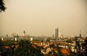 Skyline of Leipzig