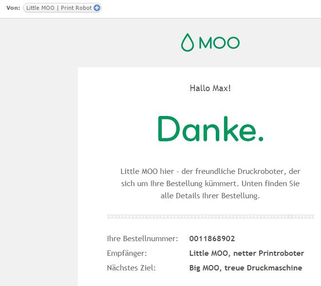 Little MOO, the friendly print robot