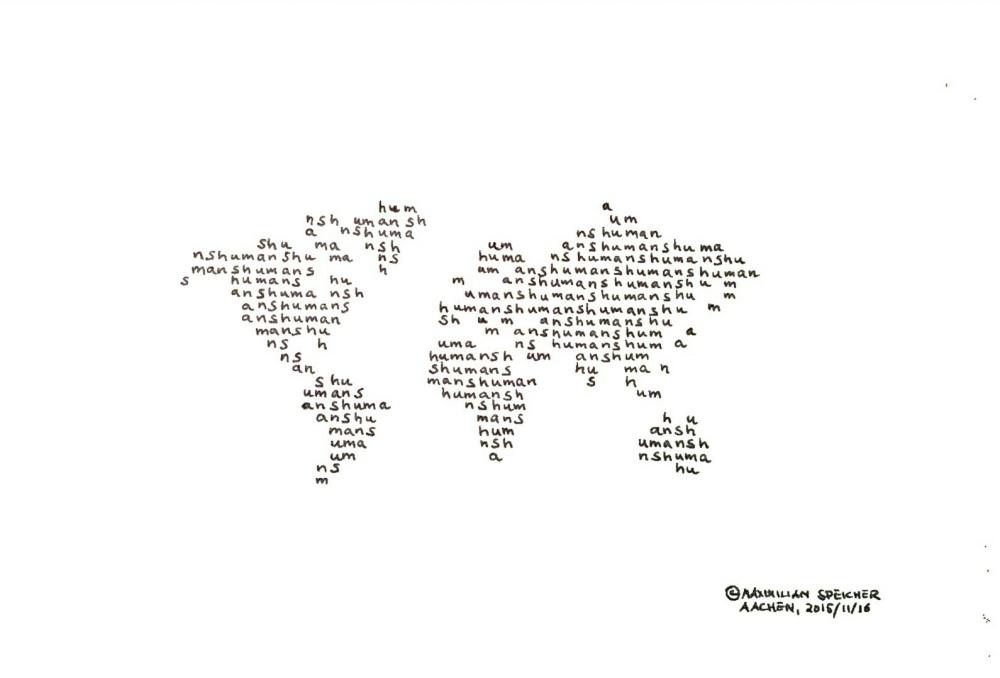 Paris 11/13, a Concrete Poem